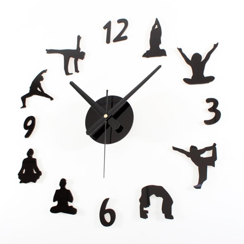 DIY-Tiempo-Yoga-Arte-Creativo-Reloj-de-Pared-Decoraci-n-Para-El-Hogar